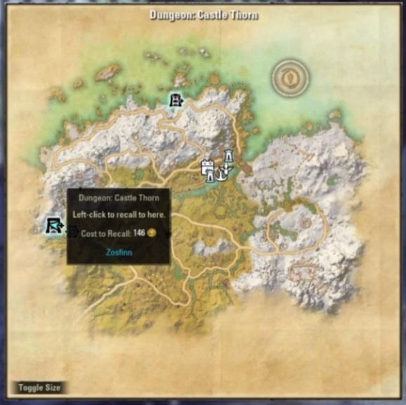 Localisation de Castle Thorn